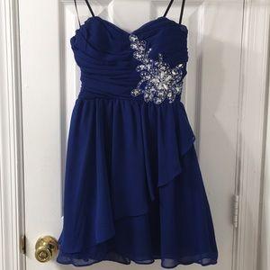 Short Flirty Blue Dress